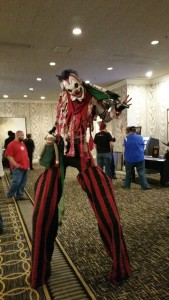 Tall clown